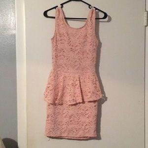 Agaci- Blush colored lacy dress